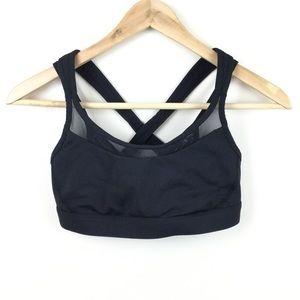 Lululemon Strappy Mesh Black Sports Bra Size 6
